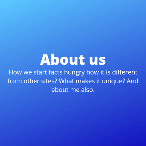 About facts hungry