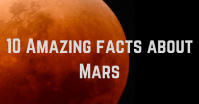 10 Amazing facts about Mars the red planet